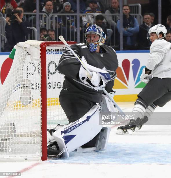 Frederik Andersen of the Toronto Maple Leafs plays in the game between Metropolitan Division and Atlantic Division during the 2020 Honda NHL AllStar...