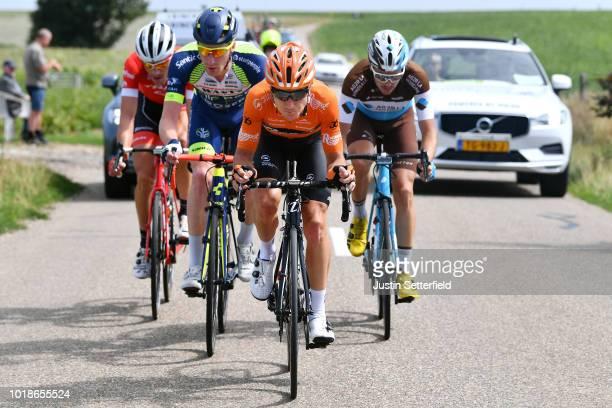 Frederik Backaert of Belgium and Team Wanty Groupe Gobert / Matthias Brandle of Austria and Team TrekSegafredo / Nick Van Der Lijke of Netherlands...
