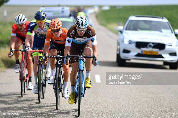 Frederik Backaert of Belgium and Team Wanty Groupe Gobert / Matthias Brandle of Austria and Team Trek-Segafredo / Nick Van Der Lijke of Netherlands...