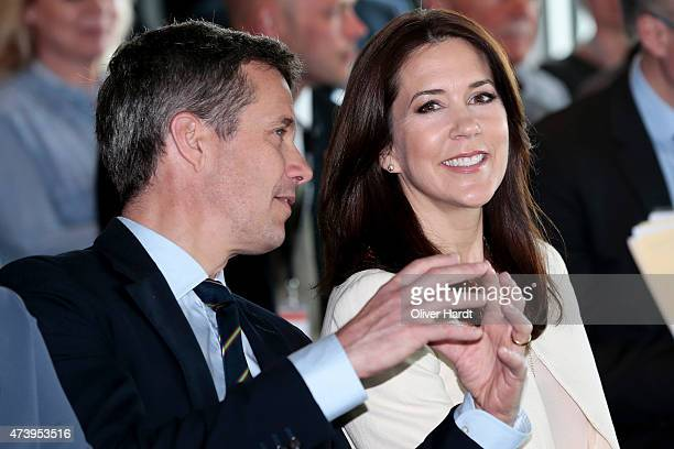 Frederik Crown Prince of Denmark and Crown Princess Mary Of Denmark visit the Silent Fusion Kitschen at the Scandic Emporio Hamburg on the 23 th...