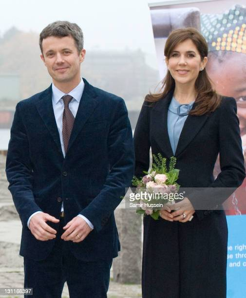 Frederik Crown Prince of Denmark and Mary Crown Princess of Denmark visit the UNICEF Centre on November 2 2011 in Copenhagen Denmark