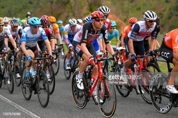 Frederik Frison of Belgium and Team Lotto Soudal / Jasper Stuyven of Belgium and Team Trek - Segafredo / Dan Martin of Ireland and Team Israel...