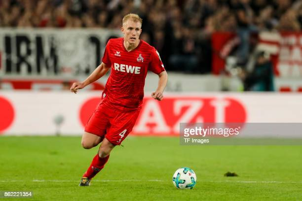 Frederik Hillesborg Sorensen of Koeln controls the ball during the Bundesliga match between VfB Stuttgart and 1 FC Koeln at MercedesBenz Arena on...