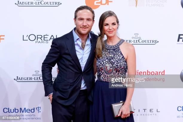 Frederik Lau and his wife Annika attend the Lola German Film Award red carpet at Messe Berlin on April 28 2017 in Berlin Germany