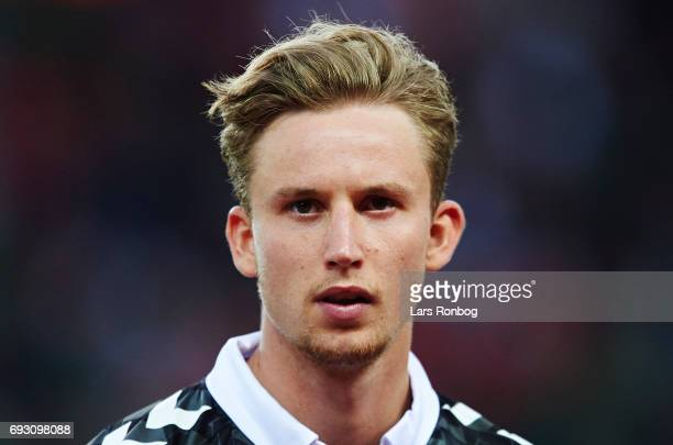 Frederik Ronnow of Denmark looks on during the international friendly match between Denmark and Germany at Brondby Stadion on June 6 2017 in Brondby...