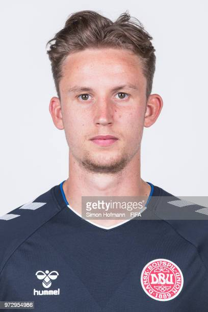 Frederik Ronnow of Denmark poses during official FIFA World Cup 2018 portrait session on June 12 2018 in Anapa Russia
