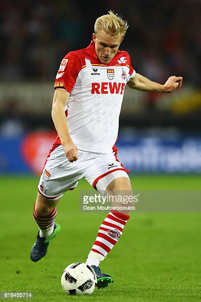 Frederik Sorensen of Koeln in action during the Bundesliga match between 1 FC Koeln and Hamburger SV at RheinEnergieStadion on October 30 2016 in...