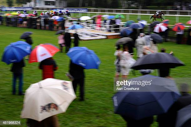 Frederik Tylicki riding East Coast Lady win The Peter Silvester Memorial EBF Stallions Maiden Fillies' Stakes at Newmarket racecourse on July 10 2014...