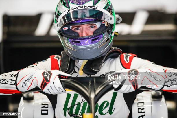 Frederik Vesti from Denmark of ART Grand Prix, portrait during Day One of Formula 3 Testing at Circuit de Barcelona - Catalunya on April 21, 2021 in...