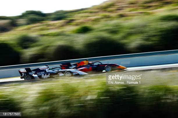 Frederik Vesti of Denmark and ART Grand Prix drives at Circuito de Jerez on May 12, 2021 in Jerez de la Frontera, Spain.
