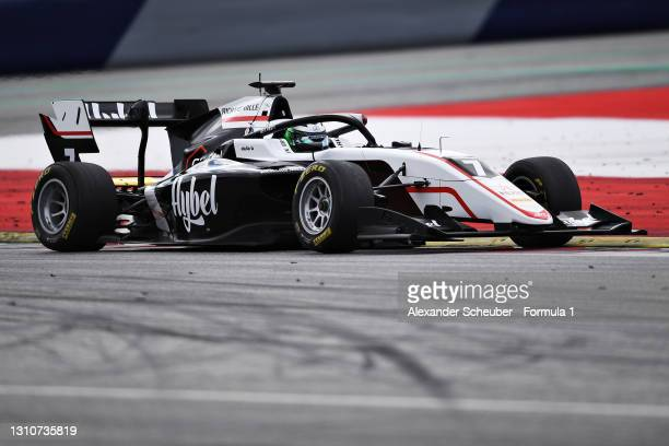 Frederik Vesti of Denmark and ART Grand Prix drives during Day Two of Formula 3 Testing at Red Bull Ring on April 04, 2021 in Spielberg, Austria.
