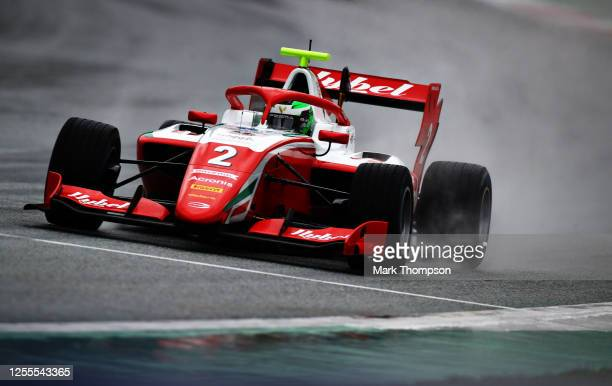 Frederik Vesti of Denmark and Prema Racing drives on track during the feature race for the Formula 3 Championship at Red Bull Ring on July 11, 2020...