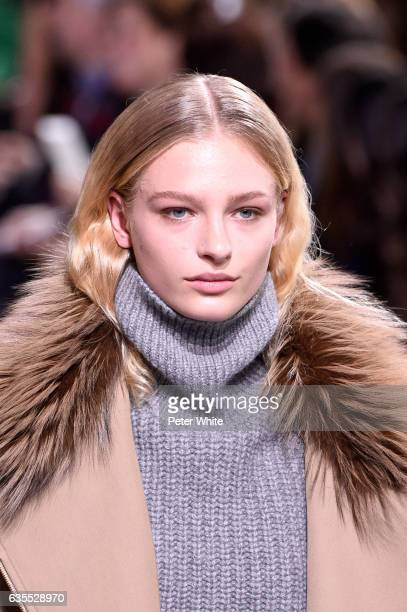 Frederikke Sofie walks the runway at the Michael Kors Collection Fall 2017 show at Spring Studios on at Spring Studios on February 15 2017 in New...