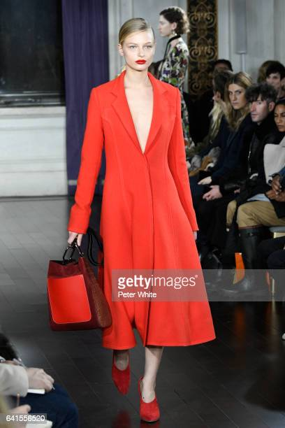 Frederikke Sofie walks the runway during Jason Wu show during New York Fashion Week at The St Regis on February 10 2017 in New York City