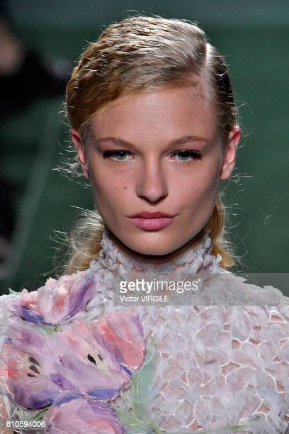Frederikke Sofie walks the runway during the Fendi Haute Couture Fall/Winter 20172018 show as part of Haute Couture Paris Fashion Week on July 5 2017...