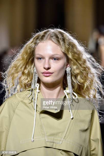 Frederikke Sofie walks the runway during the HM show as part of the Paris Fashion Week Womenswear Fall/Winter 2018/2019 on February 28 2018 in Paris...