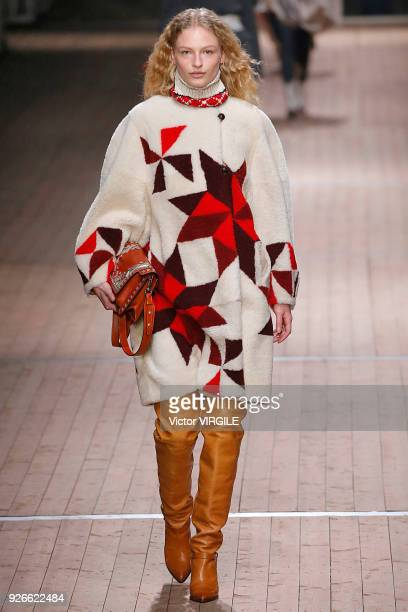 Frederikke Sofie walks the runway during the Isabel Marant Ready to Wear Fall/Winter 20182019 fashion show as part of the Paris Fashion Week...