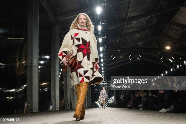 Frederikke Sofie walks the runway during the Isabel Marant show as part of the Paris Fashion Week Womenswear Fall/Winter 2018/2019 on March 1 2018 in...