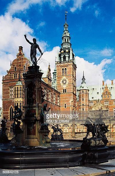 Frederiksborg Castle and Neptune Fountain, Hillerod, Denmark, 16th-17th century.