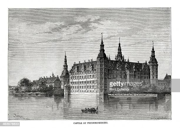 Frederiksborg Castle, Copenhagen, Denmark, 1879. The oldest parts of the castle at Hillerod were built in 1560 by King Frederik II, after whom it was...