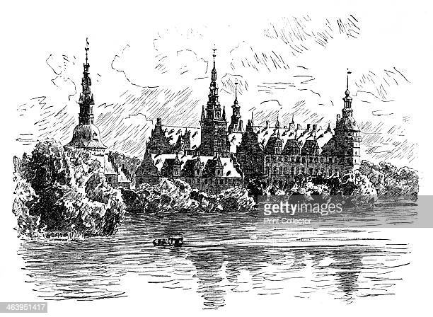 Frederiksborg Castle, Hillerod, Denmark. Illustration from The Life & Times of Queen Victoria, by Robert Wilson, Vol III.