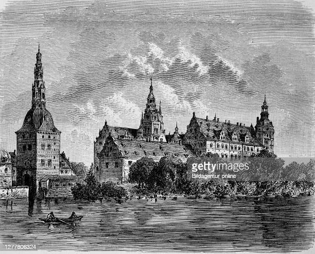 Frederiksborg Castle is a moated castle in Hillerod on the Danish island of Zealand in the 17th century, Denmark.