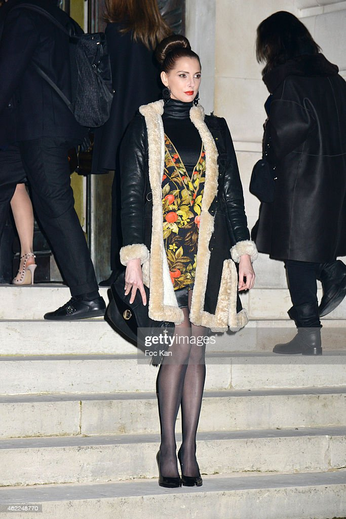 Frederiqe Bel attends the Versace show as part of Paris Fashion Week Haute Couture Spring/Summer 2015 on January 25, 2015 in Paris, France. .