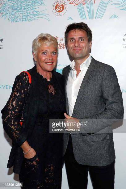 """Frederique Bahrami and Fabrice Santaro attend the """"Legends Of Tennis"""" Dinner as part of 2019 French Tennis Open at on June 05, 2019 in Paris, France."""