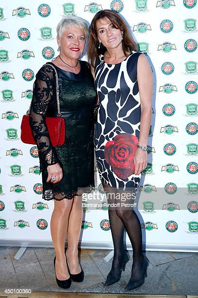 Frederique Bahrami and Isabelle Forget attend the Legends of Tennis Dinner. Held at Restaurant Fouquet's whyle Roland Garros French Tennis Open 2014...