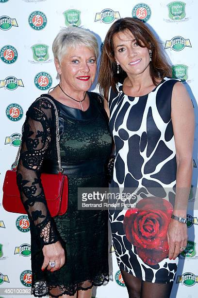 Frederique Bahrami and Isabelle Forget attend the Legends of Tennis Dinner Held at Restaurant Fouquet's whyle Roland Garros French Tennis Open 2014...