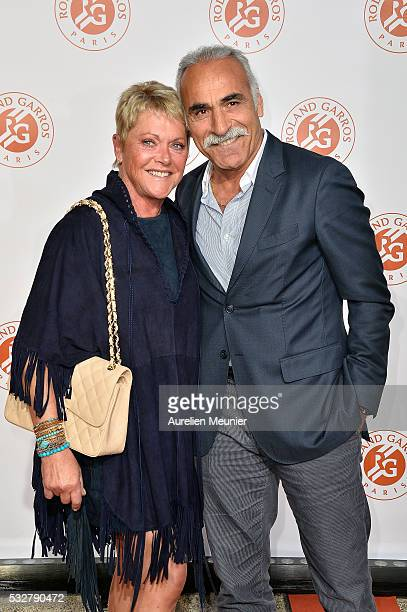 Frederique Bahrami and Mansour Bahrami attend the Roland Garros players' party at Grand Palais on May 19 2016 in Paris France