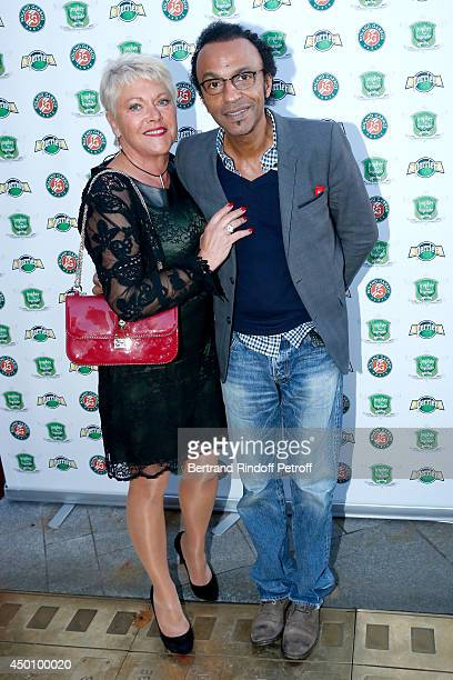 Frederique Bahrami and Manu Katche attend the Legends of Tennis Dinner Held at Restaurant Fouquet's whyle Roland Garros French Tennis Open 2014 on...