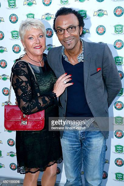 Frederique Bahrami and Manu Katche attend the Legends of Tennis Dinner. Held at Restaurant Fouquet's whyle Roland Garros French Tennis Open 2014 on...