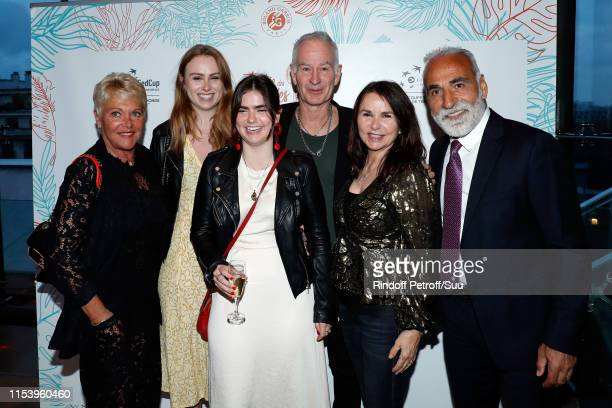 Frederique Bahrami Anna McEnroe Ava McEnroe John McEnroe Patty Smith and Mansour Bahrami attend the Legends Of Tennis Dinner as part of 2019 French...