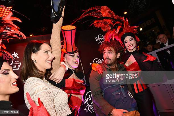 Frederique Bel and comedian Maxime Musqua attend 'Hard Rock Cafe Paris 25th Anniversary Celebration' at Hard Rock Cafe on November 16 2016 in Paris...