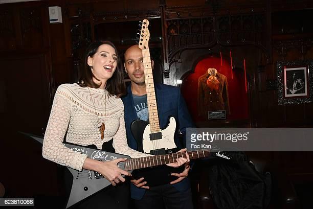 Frederique Bel and Eric Judor attend 'Hard Rock Cafe Paris 25th Anniversary Celebration' at Hard Rock Cafe on November 16 2016 in Paris France