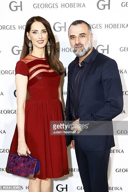 Frederique Bel and Georges Hobeika attend the Georges Hobeika Haute Couture Fall/Winter 20162017 show as part of Paris Fashion Week on at Ecole de...