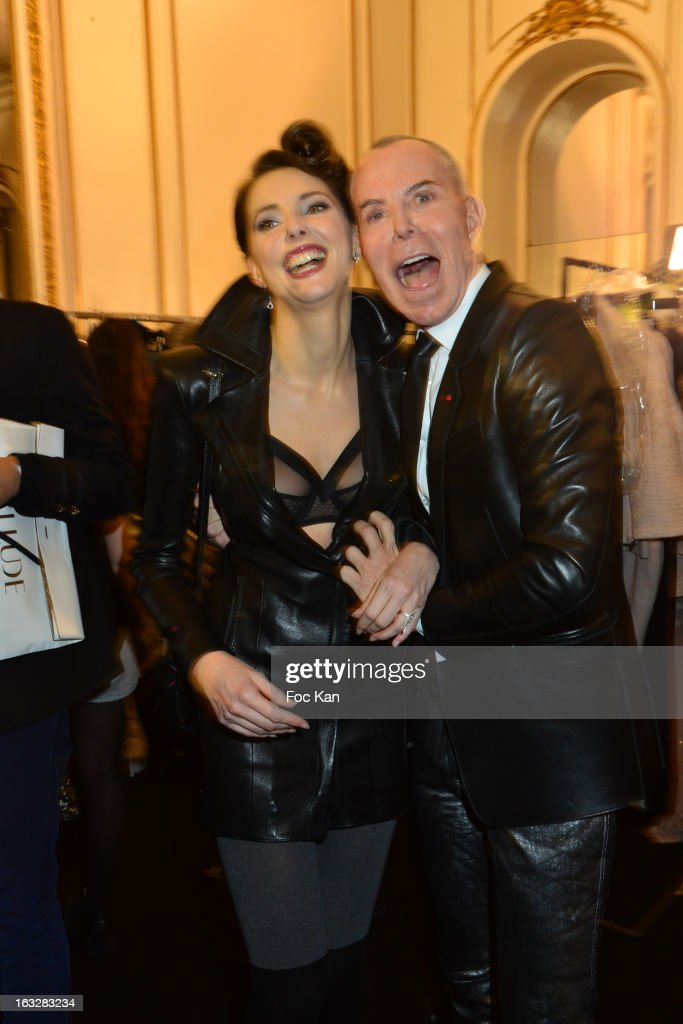 Frederique Bel and Jean Claude Jitrois attend the Jitrois Fall/Winter 2013 Ready-to-Wear show as part of Paris Fashion Week at Hotel Saint James & Albany on March 6, 2013 in Paris, France.