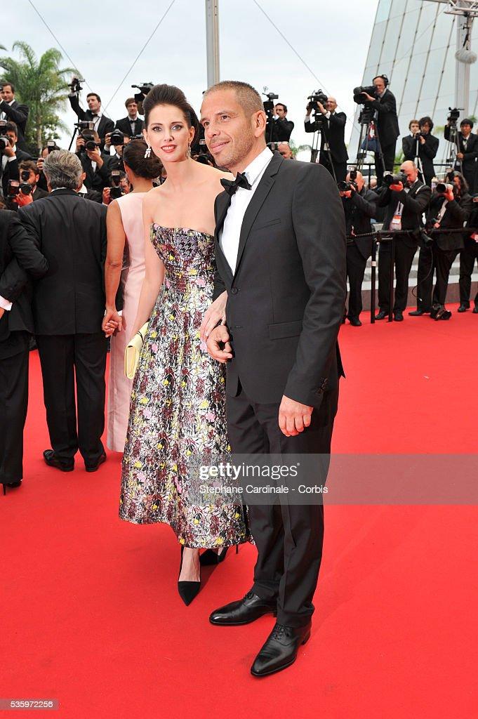 Frederique Bel and Medi Sadoun (Cast of 'Qu'est ce qu'on a fait au bon Dieu?') attend the 'Jimmy's Hall' premiere during the 67th Cannes Film Festival