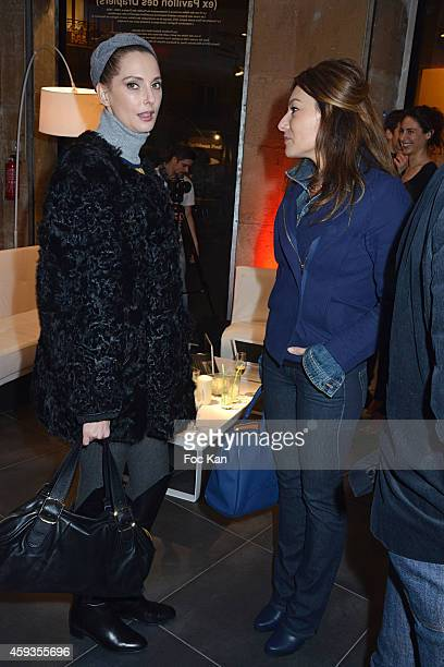 Frederique Bel and Shirley Bousquet attend the Acer Pop Up Store Launch Party at Les Halles on November 20, 2014 in Paris, France.