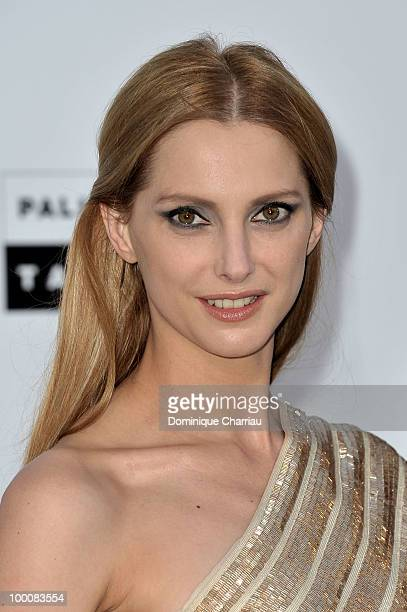 Frederique Bel arrives at amfAR's Cinema Against AIDS 2010 benefit gala at the Hotel du Cap on May 20 2010 in Antibes France