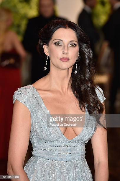 Frederique Bel arrives at the Monaco Red Cross Gala on July 25 2015 in MonteCarlo Monaco