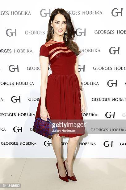 Frederique Bel attends the Georges Hobeika Haute Couture Fall/Winter 20162017 show as part of Paris Fashion Week on at Ecole de Medecine on July 4...
