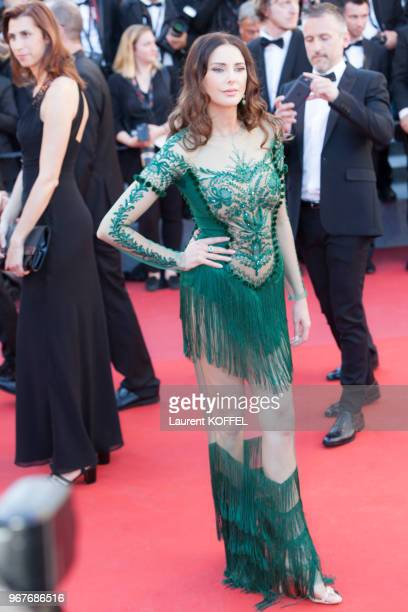 Frederique Bel attends the 'Ismael's Ghosts ' screening and Opening Gala during the 70th annual Cannes Film Festival at Palais des Festivals on May...