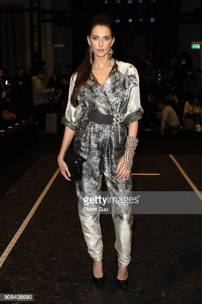 Frederique Bel attends the Julien Fournie Haute Couture Spring Summer 2018 show as part of Paris Fashion Week on January 23, 2018 in Paris, France.