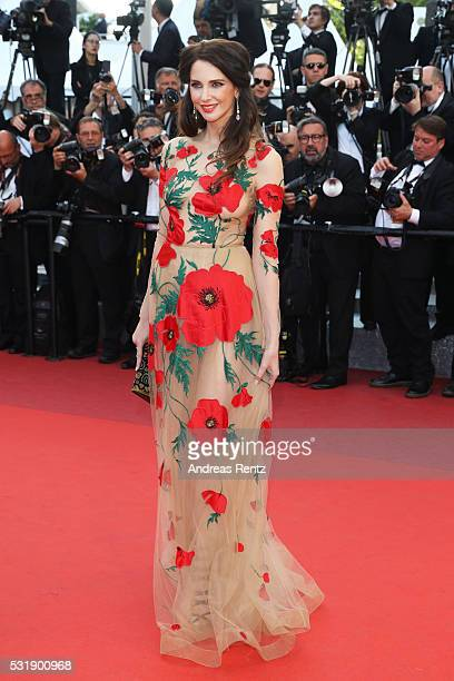 Frederique Bel attends the Julieta premiere during the 69th annual Cannes Film Festival at the Palais des Festivals on May 17 2016 in Cannes France
