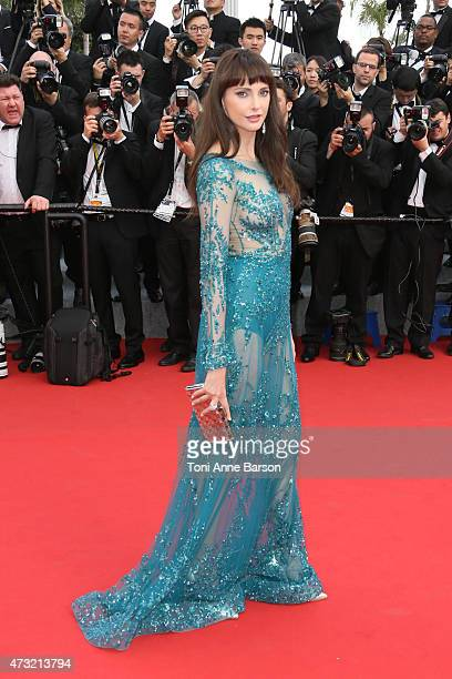 Frederique Bel attends the opening ceremony and 'La Tete Haute' premiere during the 68th annual Cannes Film Festival on May 13 2015 in Cannes France