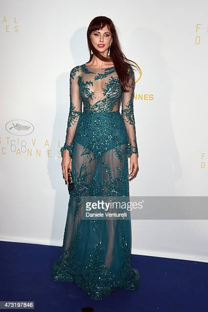 Frederique Bel attends the opening ceremony dinner during the 68th annual Cannes Film Festival on May 13 2015 in Cannes France