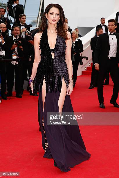 Frederique Bel attends the Saint Laurent Premiere at the 67th Annual Cannes Film Festival on May 17 2014 in Cannes France