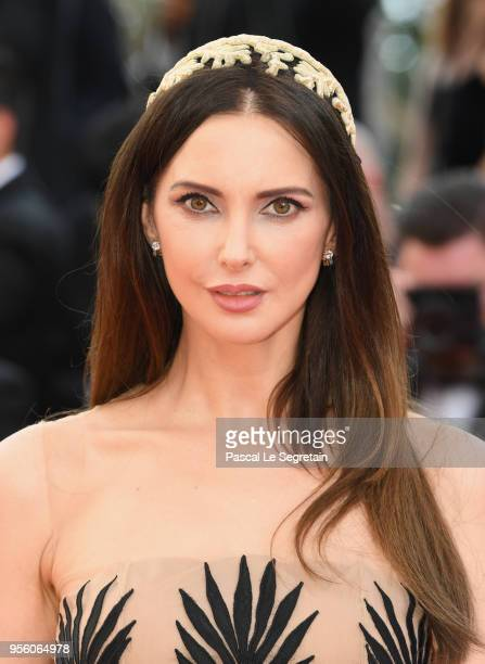 Frederique Bel attends the screening of Everybody Knows and the opening gala during the 71st annual Cannes Film Festival at Palais des Festivals on...